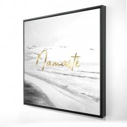 Framed 24 x 24 - 3D - Namaste