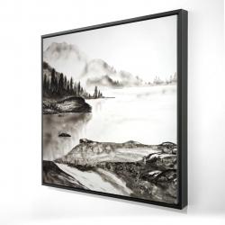 Framed 24 x 24 - 3D - Peaceful landscape