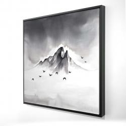 Framed 24 x 24 - 3D - Mountain peak