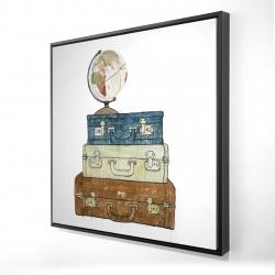 Framed 24 x 24 - 3D - Go around the world