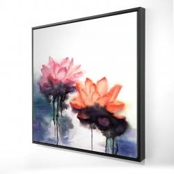 Fleurs de lotus à l'aquarelle
