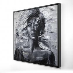 Framed 24 x 24 - 3D - Gentle woman