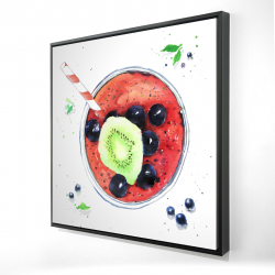Framed 24 x 24 - 3D - Berry smoothies