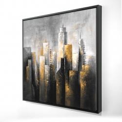 Framed 24 x 24 - 3D - Abstract skyline