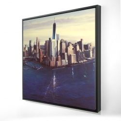 Framed 24 x 24 - 3D - City of new-york vintage