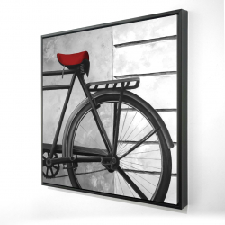 Framed 24 x 24 - 3D - Rear bicycle
