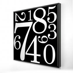 Framed 24 x 24 - 3D - 1 to 9