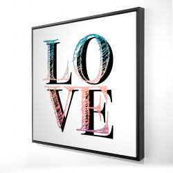 Framed 24 x 24 - 3D - Colorful love
