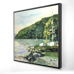 Framed 24 x 24 - 3D - Sailboat day