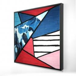 Framed 24 x 24 - 3D - Diagonal unity