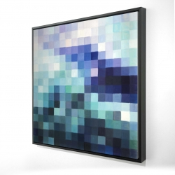 Framed 24 x 24 - 3D - Pixelized landscape