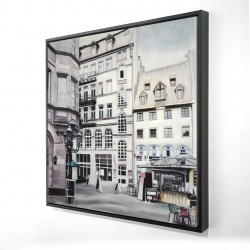 Framed 24 x 24 - 3D - Street scene in germany
