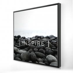 Framed 24 x 24 - 3D - Inspire