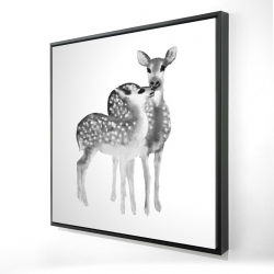 Framed 24 x 24 - 3D - Fawns love