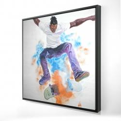 Framed 24 x 24 - 3D - Skater