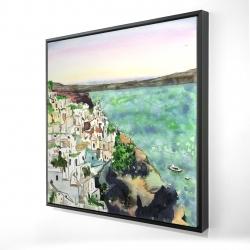 Framed 24 x 24 - 3D - Landscape of crete