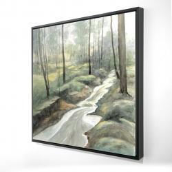 Framed 24 x 24 - 3D - Waterfall