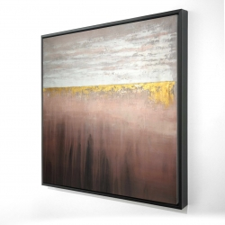 Framed 24 x 24 - 3D - Golden pink