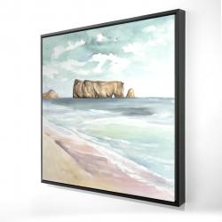 Framed 24 x 24 - 3D - Rocher percé