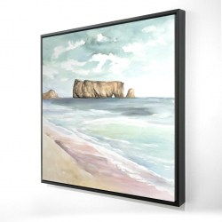 Framed 24 x 24 - 3D - Rocher percé