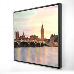 Framed 24 x 24 - 3D - Sunset on the big ben