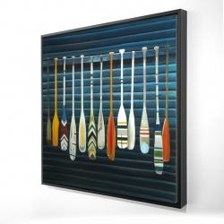 Framed 24 x 24 - 3D - Paddles