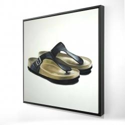 Framed 24 x 24 - 3D - Sandals