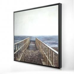 Framed 24 x 24 - 3D - Relaxing beach