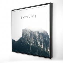 Framed 24 x 24 - 3D - Explore
