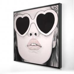 Framed 24 x 24 - 3D - Mademoiselle in pink