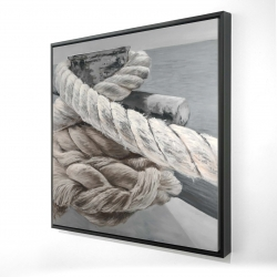 Framed 24 x 24 - 3D - Twisted boat rope