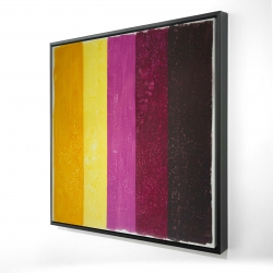 Framed 24 x 24 - 3D - Live stripes