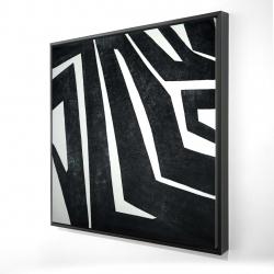 Framed 24 x 24 - 3D - Labyrinth