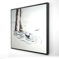 Framed 24 x 24 - 3D - Seagull