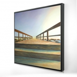 Framed 24 x 24 - 3D - Footbridge
