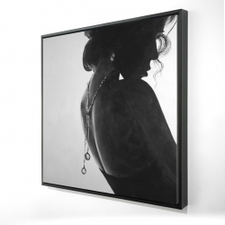 Framed 24 x 24 - 3D - Chic woman with jewels