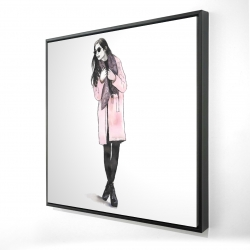 Framed 24 x 24 - 3D - Woman spring look