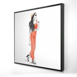 Framed 24 x 24 - 3D - Strike the pose