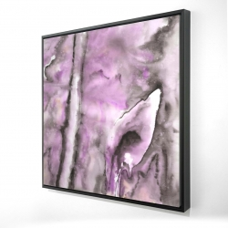Framed 24 x 24 - 3D - Purple