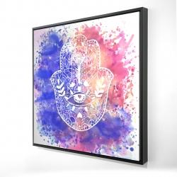 Framed 24 x 24 - 3D - Hamsa hand