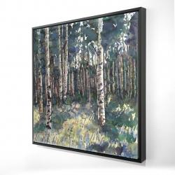 Framed 24 x 24 - 3D - Birches