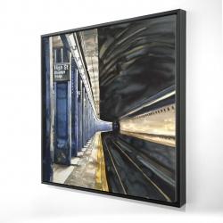 Framed 24 x 24 - 3D - New-york subway
