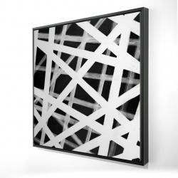 Framed 36 x 36 - 3D - Geometric stripes