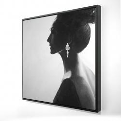 Framed 24 x 24 - 3D - Chic woman