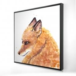 Framed 24 x 24 - 3D - Fox