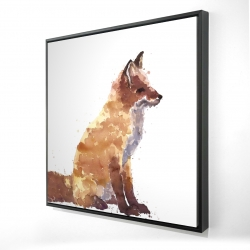 Framed 24 x 24 - 3D - Red fox