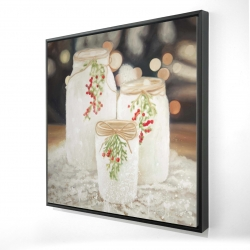 Framed 24 x 24 - 3D - Christmas candles