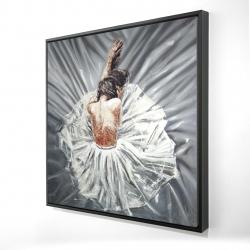 Framed 24 x 24 - 3D - Ballerina