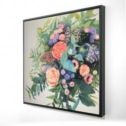 Framed 24 x 24 - 3D - Flowers melody