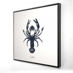 Framed 24 x 24 - 3D - Blue lobster